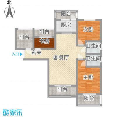 乾基九境城113.62㎡2期50号楼C户型3室3厅2卫1厨
