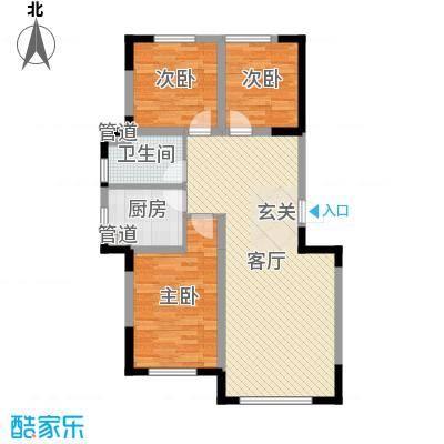 香水湾二期94.84㎡10号楼A户型3室3厅1卫1厨