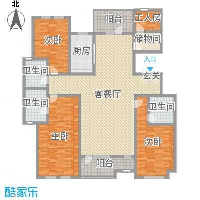 坤杰・拉菲香榭204.02㎡9#502户型4室4厅3卫1厨