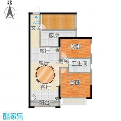 浏阳市君悦城10栋85.6平方三居室装修图