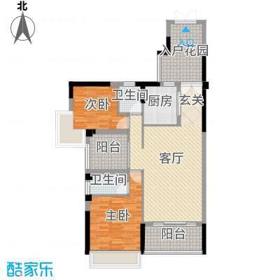 纯水岸103.45㎡3栋03、05户型2室2厅2卫1厨
