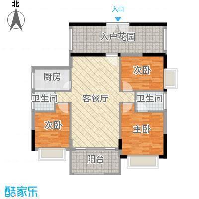 星河湾畔124.00㎡6栋02-17层方户型3室3厅2卫