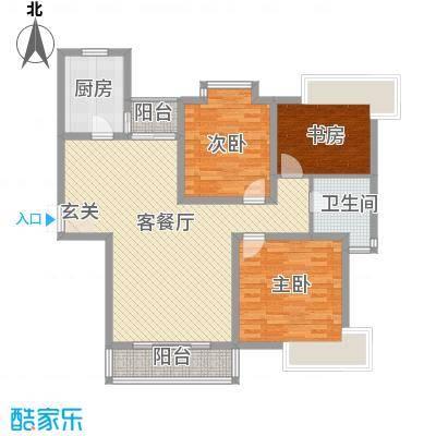 上海新城一期1#2#楼标准层C户型-副本