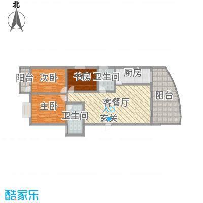 宏明大厦143.66㎡项目G户型3室3厅2卫1厨