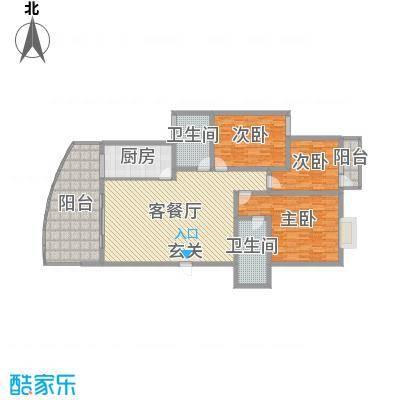 宏明大厦147.11㎡项目F2户型3室3厅2卫1厨