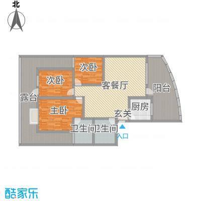 宏明大厦140.22㎡项目C1户型3室3厅2卫1厨
