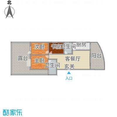 宏明大厦139.98㎡项目G1户型3室3厅2卫1厨