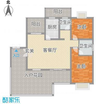 乐仙小镇110.00㎡C3户型2室2厅2卫1厨