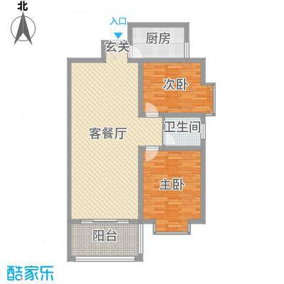 金秋怡源花园99.00㎡D户型2室2厅1卫1厨