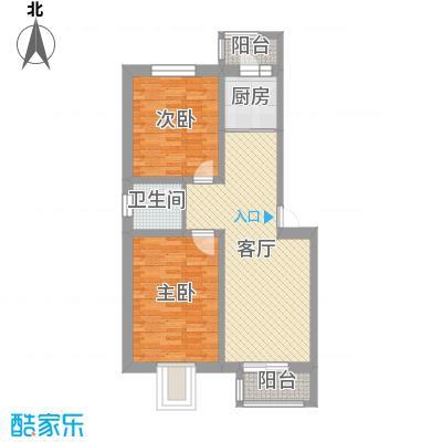 承德・秀水花园89.02㎡F户型2室2厅1卫1厨