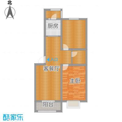 承德・秀水花园89.02㎡F'户型2室2厅1卫1厨