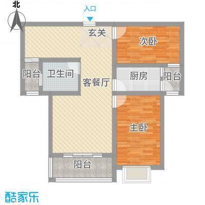 金桥天海湾93.74㎡21号楼A4户型2室2厅1卫1厨