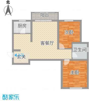 书芳苑小区93.75㎡D12居户型2室2厅1卫1厨