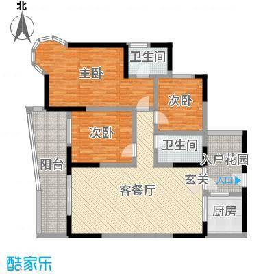 凯信水韵滨江二期公园大帝130.00㎡B户型3室3厅2卫1厨