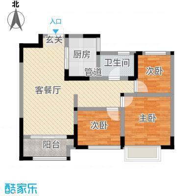 兰陵锦轩五号楼标准层户型-副本