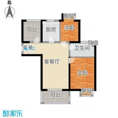 无锡万达文化旅游城104.00㎡超高层B4户型2室2厅1卫1厨