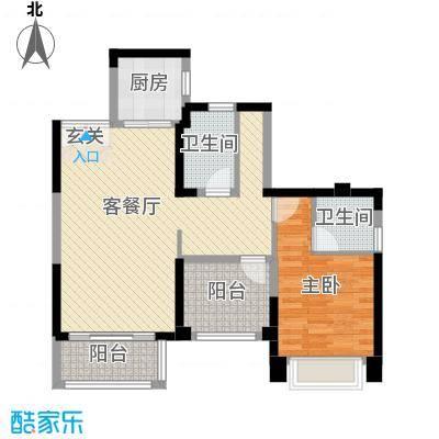 宇宏健康花城89.00㎡2栋03户型3室3厅2卫1厨