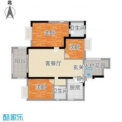 明源国际三期1135.27㎡I1户型3室2厅2卫1厨-副本