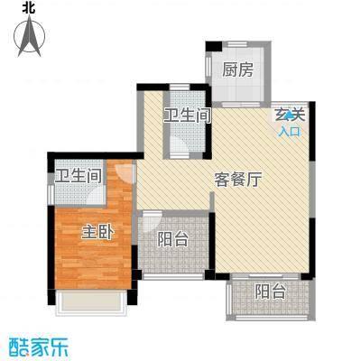 宇宏健康花城89.00㎡2栋02户型3室3厅2卫1厨