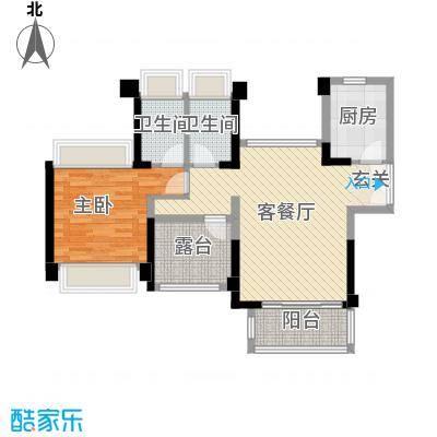 宇宏健康花城89.00㎡2栋01户型3室3厅2卫1厨