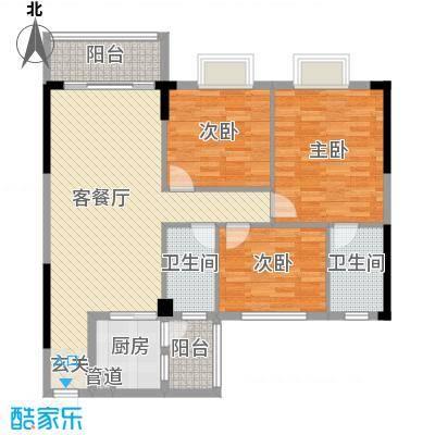 雅逸轩111.29㎡B栋0350X70户型3室3厅2卫1厨