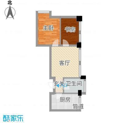华亿红府70.00㎡4#A6公寓户型2室2厅1卫1厨