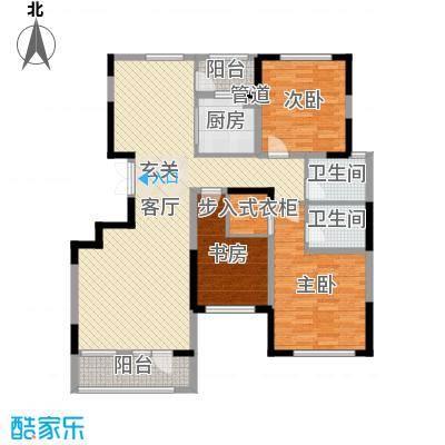 华亿红府141.00㎡5#/6#B10高层户型2室2厅2卫1厨