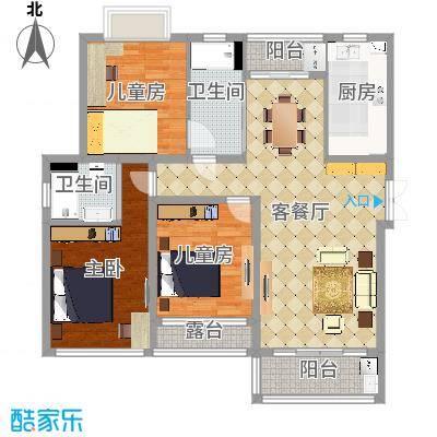 紫园尚元9-1404欧式客厅方案