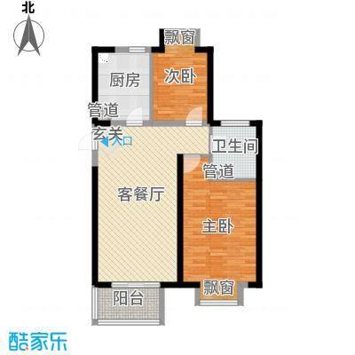 无锡万达文化旅游城90.00㎡超高层A4-2户型2室2厅1卫1厨