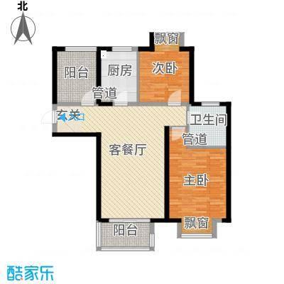 无锡万达文化旅游城104.00㎡超高层A4户型2室2厅1卫1厨