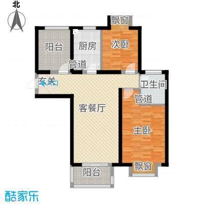 无锡万达文化旅游城103.00㎡B5户型2室2厅1卫1厨
