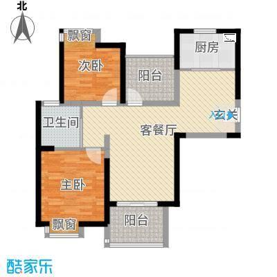 九龙仓时代上城89.00㎡YOUNG房1号楼B-G1户型2室2厅1卫1厨