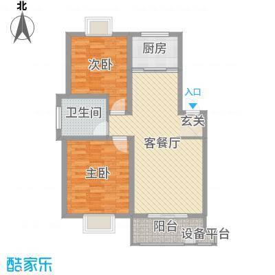 中科碧水豪庭85.00㎡1期3#6#楼边户D7户型3室3厅1卫
