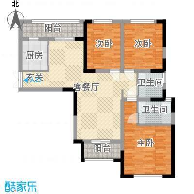 万景城108.00㎡7楼D户型3室3厅1卫1厨