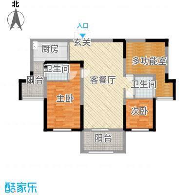 万景城113.00㎡8#-G户型3室3厅2卫1厨