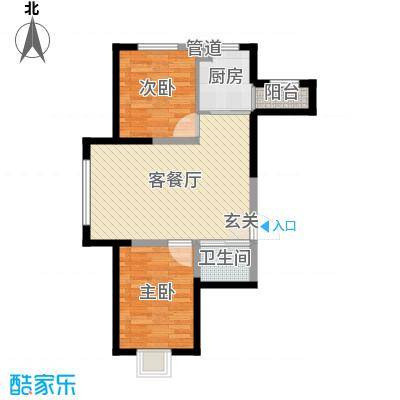 蓝色港湾82.00㎡三期庭岸户型3室3厅1卫1厨