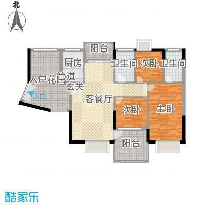 星河湾畔124.00㎡6栋02-17层户型3室3厅2卫
