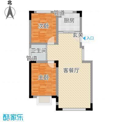 蓝色港湾105.00㎡三期庭落户型2室2厅1卫1厨