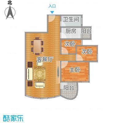 季华新景园七座03单元户型图