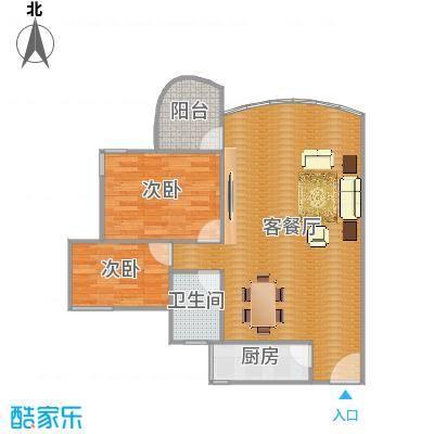 季华新景园二座01单元户型图