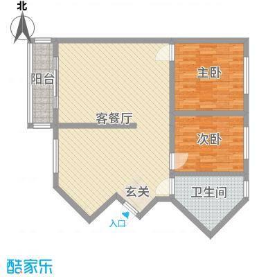 香格里拉桂花山城95.99㎡6户型2室2厅1卫