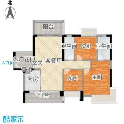 紫园113.19㎡19幢02户型3室3厅2卫1厨