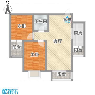 承德・秀水花园90.46㎡B户型2室2厅1卫2厨