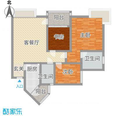 香格里拉桂花山城119.40㎡4户型3室3厅2卫