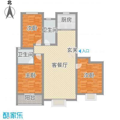 金桥天海湾133.94㎡10A号楼标准层户型3室3厅2卫1厨