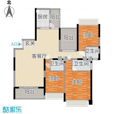 新世纪豪园碧水蓝天 3室 户型图-副本