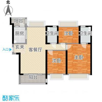 南通碧桂园127.00㎡159#、160#、161#楼YJ130-C户型3室3厅2卫1厨
