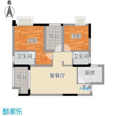 雅居乐・御景豪庭90.00㎡4座01/02单元户型3室3厅2卫1厨