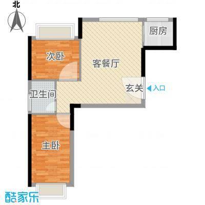 红玛瑙三期66.00㎡F3户型2室2厅1卫