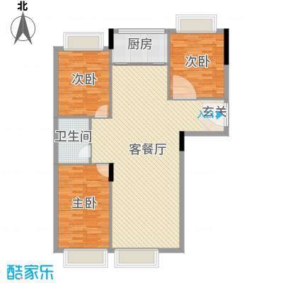 红玛瑙三期116.94㎡F户型3室3厅1卫
